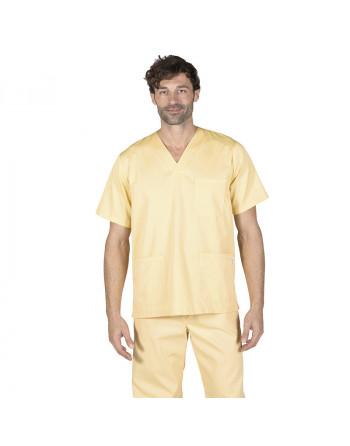Blusa Amarillo cuello pico MC
